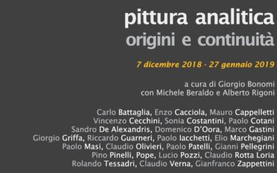 PITTURA ANALITICA. ORIGINS AND CONTINUITY